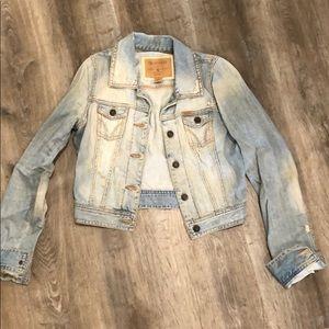 Distressed Hollister denim jacket
